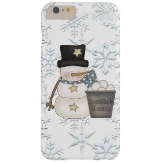 Funda Barely There iPhone 6 Plus Caso más del iPhone 6 del muñeco de nieve apenas