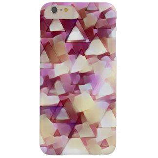 Funda Barely There iPhone 6 Plus Caso rosado de IPhone de los triángulos