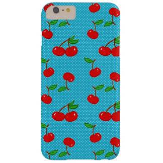 Funda Barely There iPhone 6 Plus Cereza muy manchada en azul