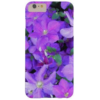 Funda Barely There iPhone 6 Plus Clematis violeta hermoso