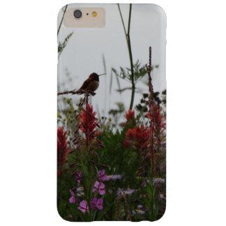 Funda Barely There iPhone 6 Plus colibrí verde lindo en la oscuridad