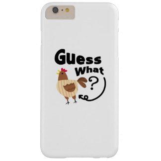 Funda Barely There iPhone 6 Plus ¿Conjetura del extremo del pollo qué? Regalo
