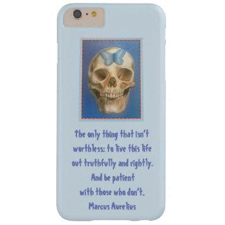 Funda Barely There iPhone 6 Plus Cráneo y caja estoica del teléfono del teléfono de