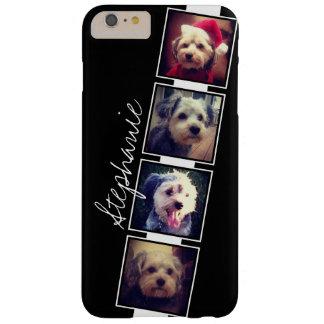 Funda Barely There iPhone 6 Plus Cuadrados blancos y negros del collage de la foto