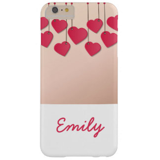 Funda Barely There iPhone 6 Plus Cuerda de colgante de los corazones