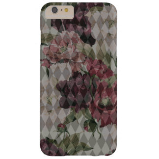 Funda Barely There iPhone 6 Plus Diamantes y modelo de flores Mashup