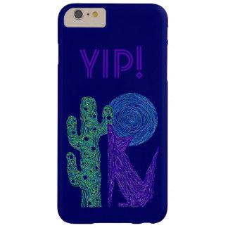 Funda Barely There iPhone 6 Plus Diseño al sudoeste colorido del lobo púrpura del