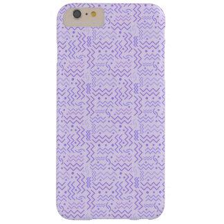Funda Barely There iPhone 6 Plus Diseño púrpura en colores pastel enrrollado de