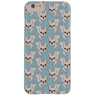 Funda Barely There iPhone 6 Plus Dogo francés de la crema del anca de rana