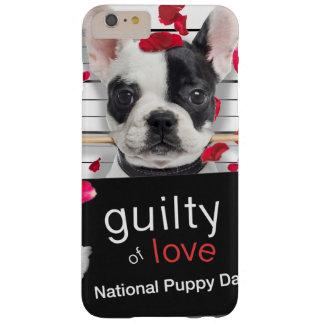 Funda Barely There iPhone 6 Plus Dogo francés del el día de San Valentín