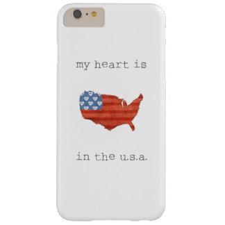 Funda Barely There iPhone 6 Plus El | americana mi corazón está en el mapa de los
