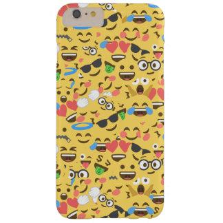 Funda Barely There iPhone 6 Plus el amor lindo del emoji oye el modelo de la risa