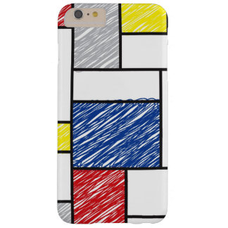 Funda Barely There iPhone 6 Plus El arte minimalista de Mondrian de Stijl garabatea