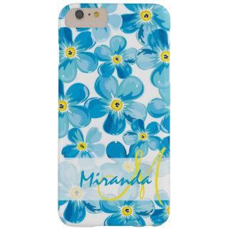 Funda Barely There iPhone 6 Plus El azul vibrante de la acuarela me olvida no