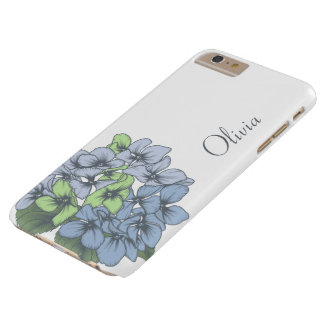 Funda Barely There iPhone 6 Plus El Hydrangea florece la caja del iPhone/del iPad