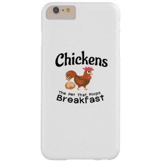Funda Barely There iPhone 6 Plus El mascota que granjero divertido del pollo del