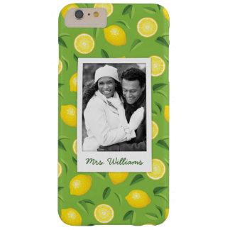 Funda Barely There iPhone 6 Plus El modelo amarillo brillante el | del limón añade