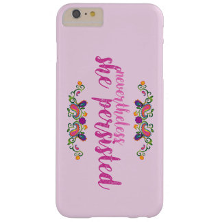 Funda Barely There iPhone 6 Plus Ella persistió caso rosado del iPhone