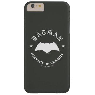 Funda Barely There iPhone 6 Plus Emblema retro del palo de la liga de justicia el |