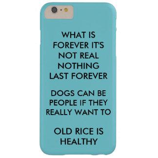 Funda Barely There iPhone 6 Plus Es un caso fresco que habla la verdad