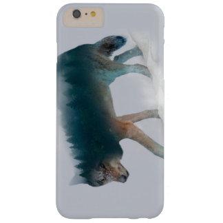 Funda Barely There iPhone 6 Plus Exposición doble del lobo - bosque del lobo - lobo