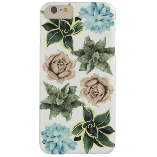 Funda Barely There iPhone 6 Plus Fila de Succulents