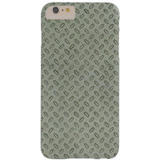 Funda Barely There iPhone 6 Plus Fondo de la textura del metal de la placa del
