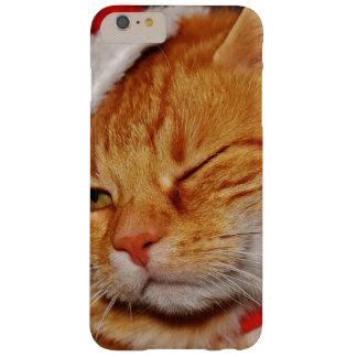Funda Barely There iPhone 6 Plus Gato anaranjado - gato de Papá Noel - Felices