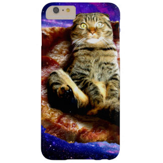 Funda Barely There iPhone 6 Plus gato de la pizza - gato loco - gatos en espacio