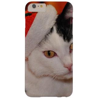 Funda Barely There iPhone 6 Plus Gato de Papá Noel - Felices Navidad - acaricie el