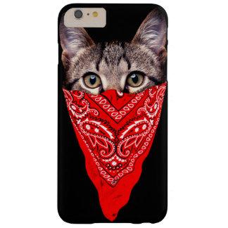 Funda Barely There iPhone 6 Plus gato del gángster - gato del pañuelo - cuadrilla