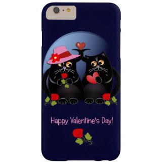Funda Barely There iPhone 6 Plus Gatos lindos del el día de San Valentín con el