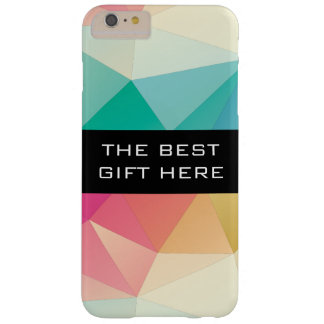Funda Barely There iPhone 6 Plus Geométricos coloridos/personalizan el texto