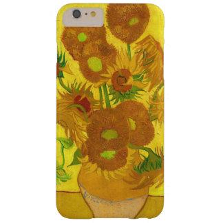 Funda Barely There iPhone 6 Plus Girasoles de Van Gogh quince en una bella arte del