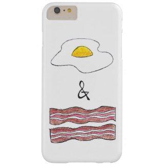 Funda Barely There iPhone 6 Plus Huevos y caja divertida del teléfono del tocino
