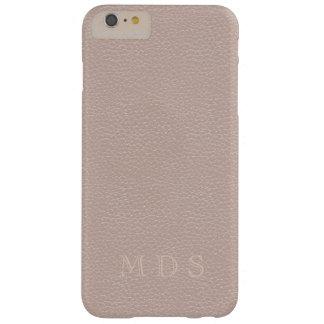 Funda Barely There iPhone 6 Plus Iniciales color de rosa rosadas del personalizado