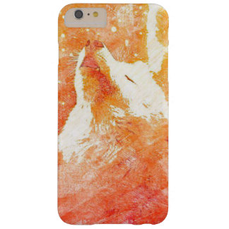 Funda Barely There iPhone 6 Plus iPhone anaranjado 6/6s del lobo más la caja del