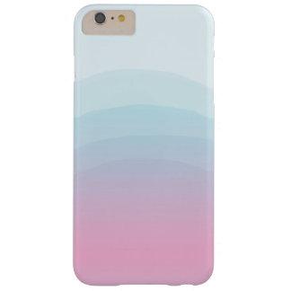Funda Barely There iPhone 6 Plus iPhone azul rosado 6/6s de la acuarela más el caso