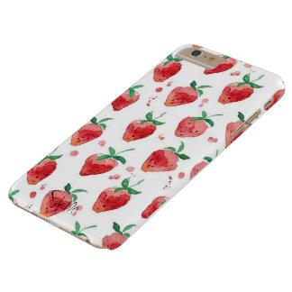 """Funda Barely There iPhone 6 Plus iPhone """"caja del caso de la fresa """""""