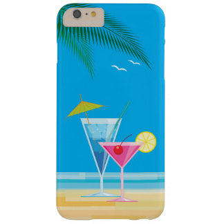 Funda Barely There iPhone 6 Plus iPhone tropical 6/6s de los cócteles más el caso
