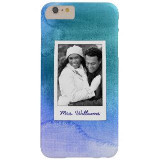 Funda Barely There iPhone 6 Plus La acuarela abstracta azul el | añade la foto