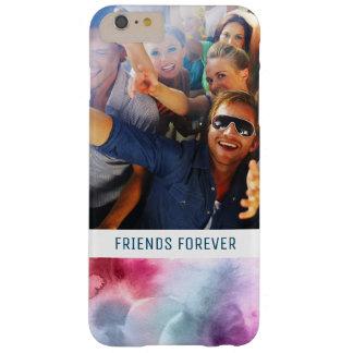 Funda Barely There iPhone 6 Plus La acuarela azul y rosada abstracta el | añade la