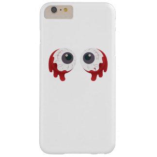 Funda Barely There iPhone 6 Plus La bola asustadiza Halloween del ojo calcula