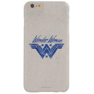 Funda Barely There iPhone 6 Plus La Mujer Maravilla apiló símbolo de las estrellas