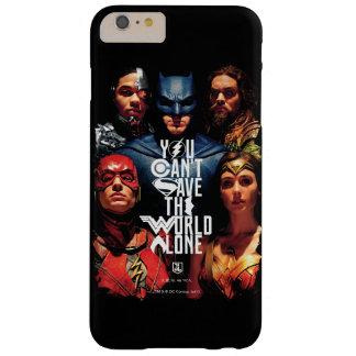 Funda Barely There iPhone 6 Plus Liga de justicia el | usted no puede ahorrar el