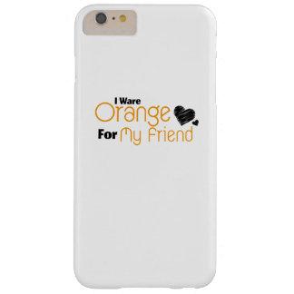Funda Barely There iPhone 6 Plus Llevo el naranja para mi conciencia de la cinta