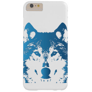 Funda Barely There iPhone 6 Plus Lobo de los azules claros del ilustracion