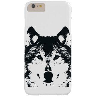 Funda Barely There iPhone 6 Plus Lobo negro del ilustracion
