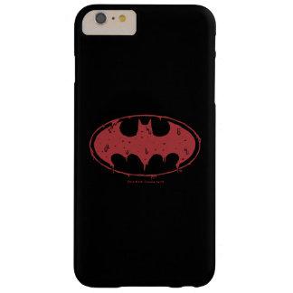 Funda Barely There iPhone 6 Plus Logotipo de exudación del palo rojo de Batman el |