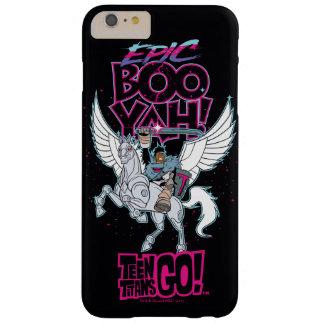 Funda Barely There iPhone 6 Plus ¡Los titanes adolescentes van! Cyborg del guerrero